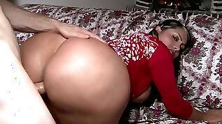 Perfect slut office girl with hot body Sandra enjoys riding hard penis