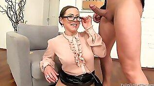 Hot MILF In Pantyhose Hot Sex