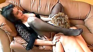 Mature chicks in nylon lesbian sex