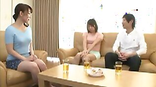 Japanese wife like cheating with step son