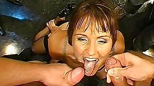 Melissa and Magdalena are two cum sucking babes