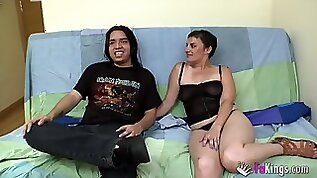 Ana teaches sons friend how to fuck
