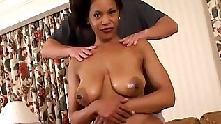 Beautiful milf chick Semmie De Suora gets cunt fucked on the couch