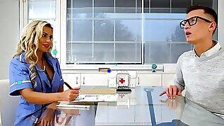 Divine nurse fulfills young patients sexual desires
