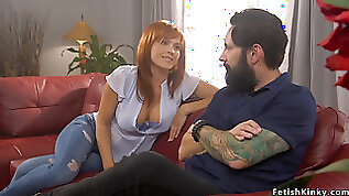 Ex husband anal strapon fuck wife in bondage