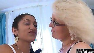 July and Jana have a lesbian adventure